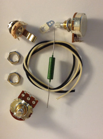 Wiring Harness Kit For P Bass Bourns Knurled Pots .047uf Soviet PIO Capacitor