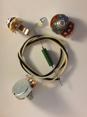 Lefty Wiring Harness Kit For P Bass US Spec Pots .047uf Soviet PIO Capacitor