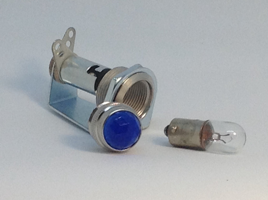 Tube Amp Pilot Light Assembly with Blue Jewel and Number 47 Bulb Made In USA