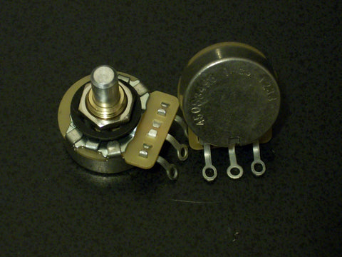 "Single CTS US Spec 1/4"" Solid Shaft Guitar Potentiometers"