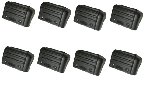 Speaker Cabinet Corners Guitar Cabs, Subs, or PA Hi Impact Black Plastic Small Set of 8
