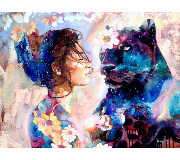 Contemporary Animal Oil Painting by Dimitra Milan
