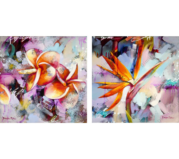 Paradise Blossom Diptych