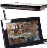 "DVD Player Hidden Camera, Wireless 7"" LCD 4 Cam DVR + 4GB SD Card Spy Nanny Cam"