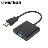 High Quality HDMI to VGA Adapter Male To Famale Converter Adapter 1080P Digital to Analog Video Audio Cable For PC Laptop Tablet