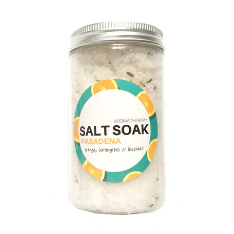 'PASADENA' SWEET ORANGE, LAVENDER & LEMONGRASS SALT SOAK JAR