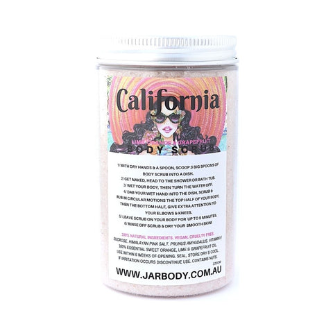 'CALI' LIME, SWEET ORANGE & GRAPEFRUIT BODY SCRUB