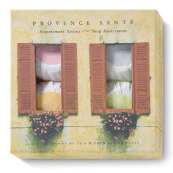 Provence Santé Orange Shutters 4 Bar Gift Soap Assortment