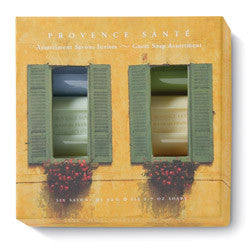 Provence Santé Green Shutters 6 Bar Guest Soap Assortment