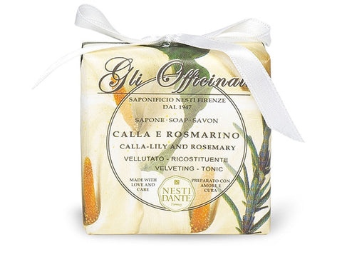 Nesti Dante Gli Officinali Calla-Lily and Rosemary Soap