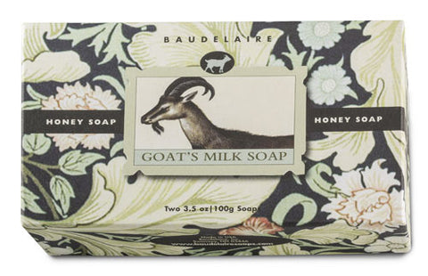 Baudelaire Honey Goat's Milk 2-Bar Soap Gift Set