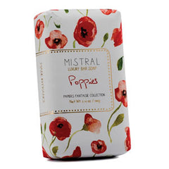 Mistral Papiers Fantaisie Poppies French Bath Soap