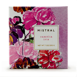 Mistral Boxed Floral Camelia Iris French Soap