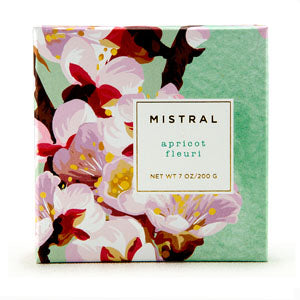 Mistral Boxed Floral Apricot Fleuri French Soap