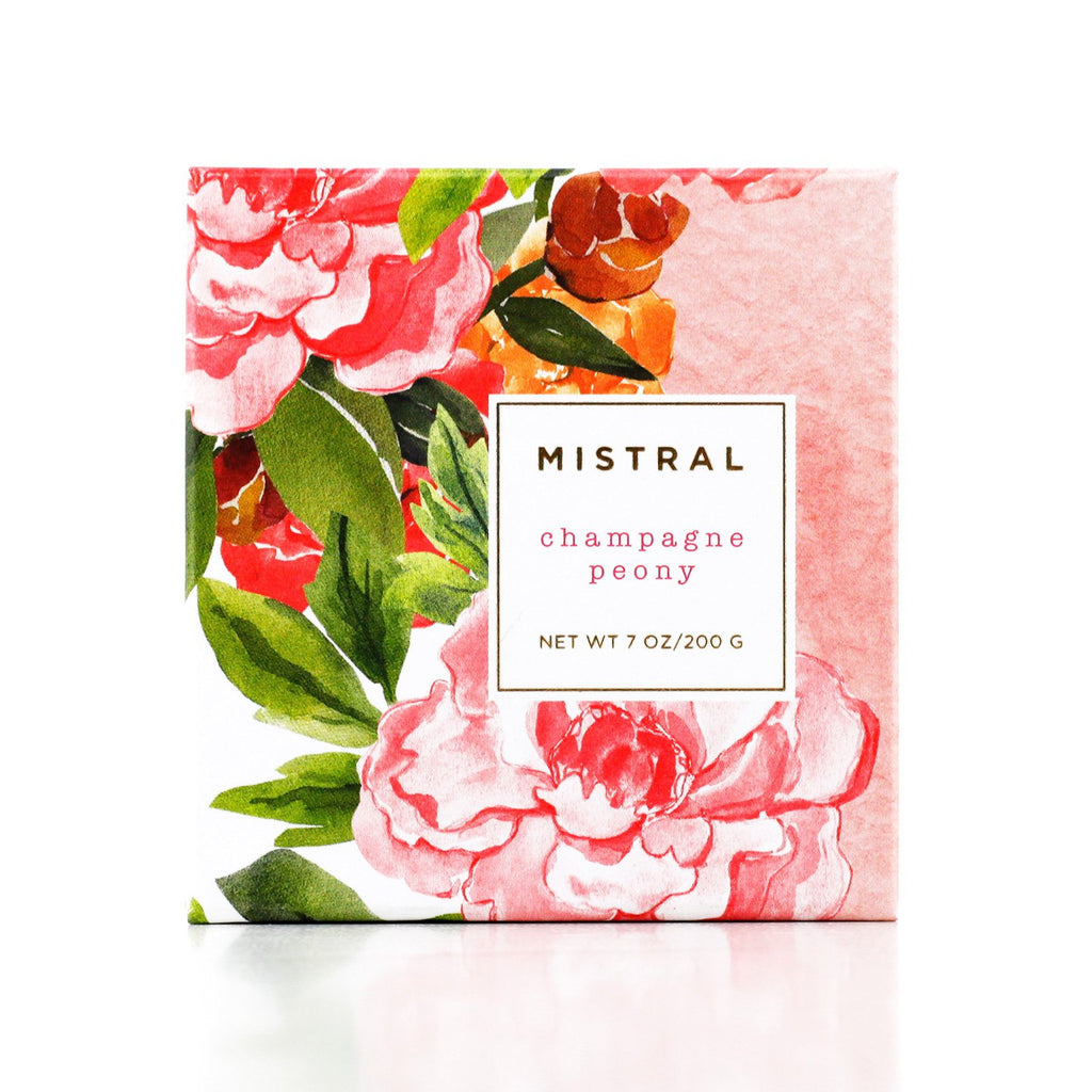 Mistral Boxed Floral Champagne Peony French Soap