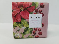 Mistral Seasonal Collection Cranberry Currant 3.14 oz Bar Soap