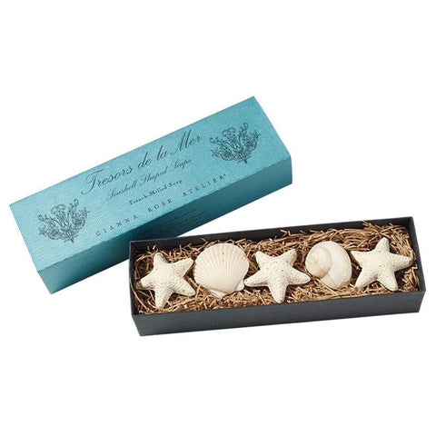 Gianna Rose Tresors de la Mer Seashell Shaped Soaps