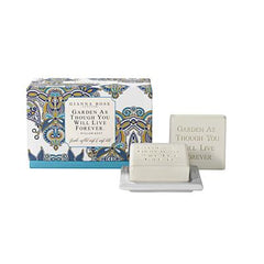 Gianna Rose William Kent Quotable Gardener's Soap Blue with Dish
