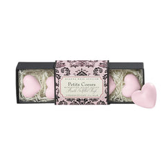 Gianna Rose Miniature Heart Soap in Slider Box - Petits Coeurs