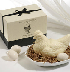 Gianna Rose Hen and Her Eggs Soaps with Porcelain Dish