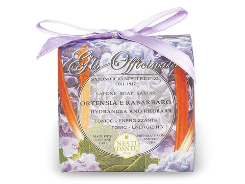 Nesti Dante Gli Officinali Hydrangea and Rhubarb Soap
