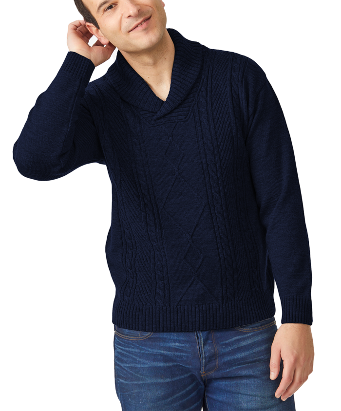 Merino Collins Cable Knit Sweater
