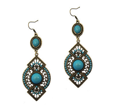 Blue Vintage Earings