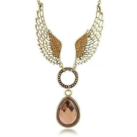 Angle-Wings Crystal Necklace