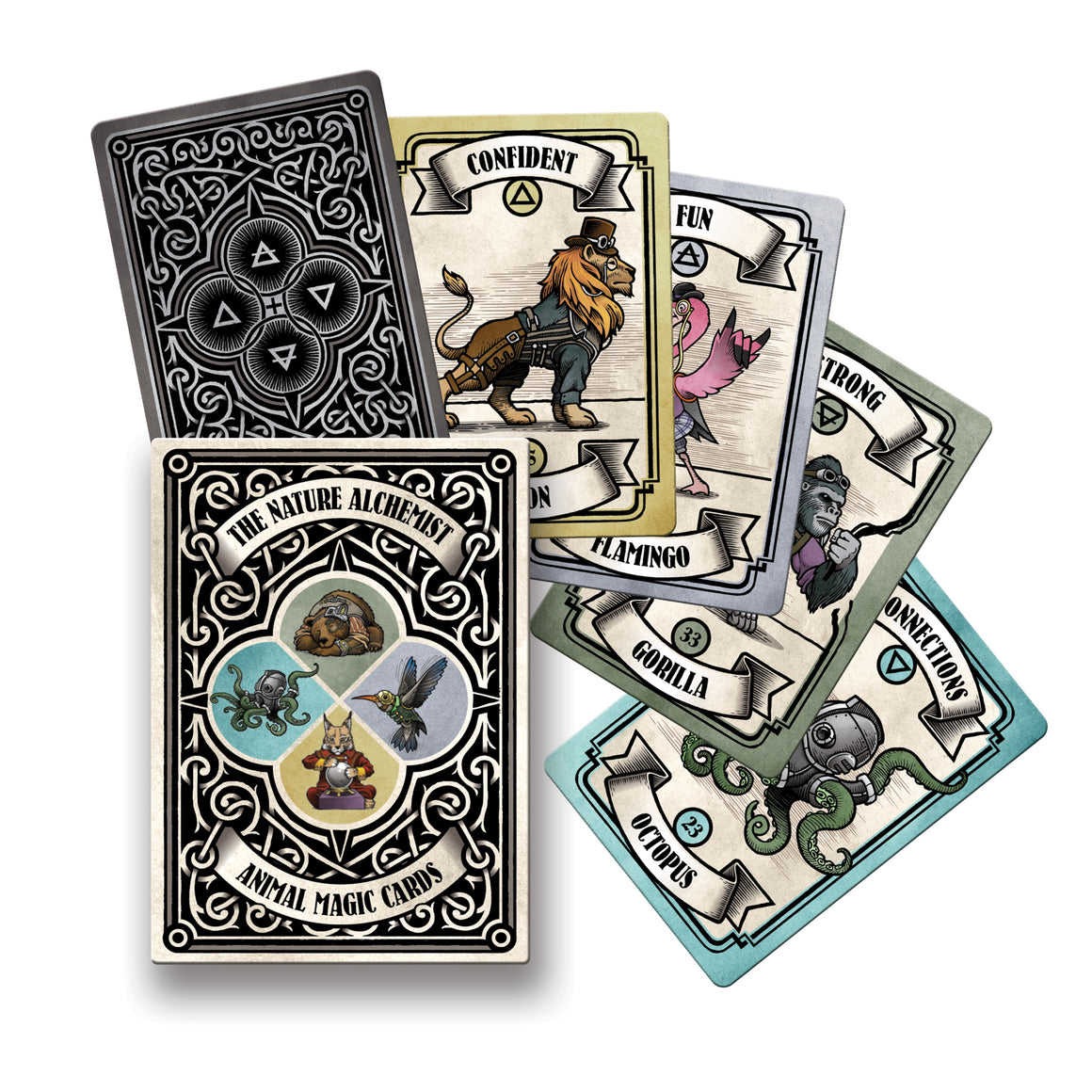 Starter Pack - Steampunk 'Animal Magic' guidance cards 12 decks plus a shop sample (Wholesale price $199.00 AU)