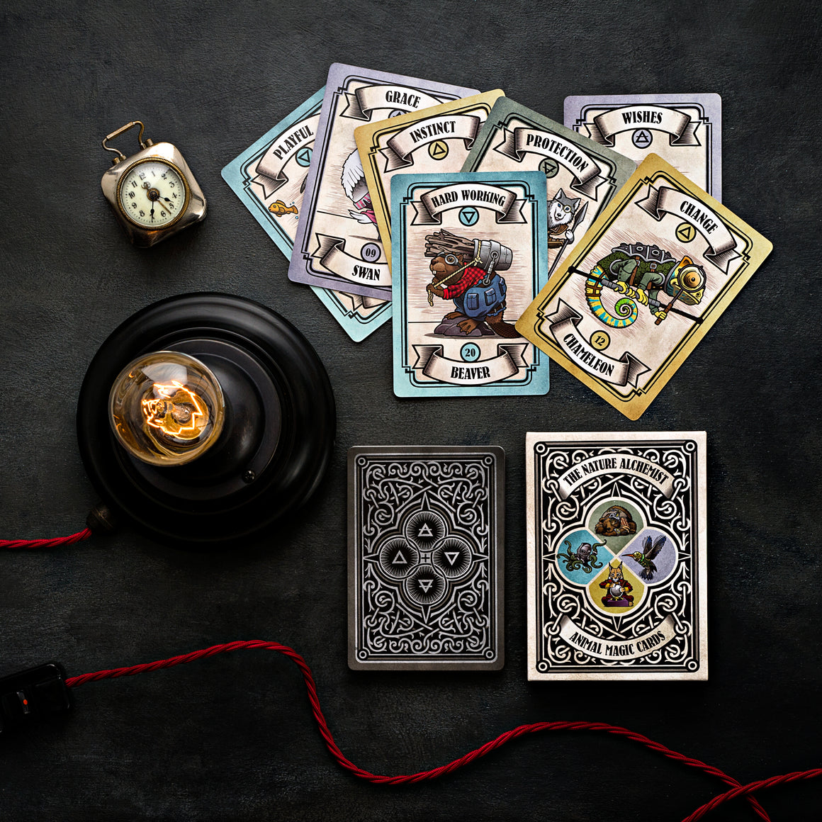 Steampunk 'Animal Magic' Guidance Cards