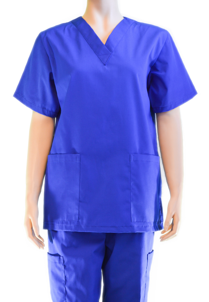 Solid Top | Galaxy Blue | Poplin – Honolulu Scrubs