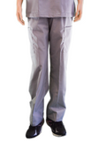 Solid Silver Grey Pants