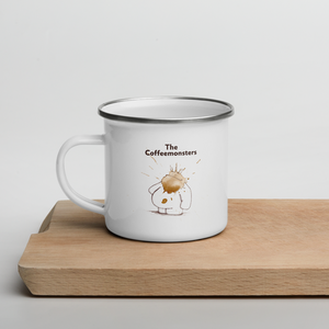 """the coffeemonsters book"" - enamel mug"