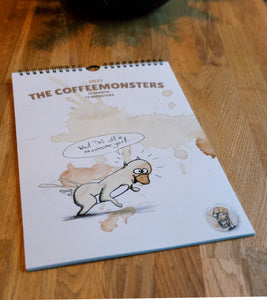 the coffeemonsters - limited Calendar 2021 - 12 month, 12monsters - Edtion of 50