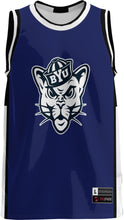 Load image into Gallery viewer, Brigham Young University: Youth Replica Basketball Fan Jersey - Modern