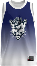 Load image into Gallery viewer, Brigham Young University: Youth Replica Basketball Fan Jersey - Ombre