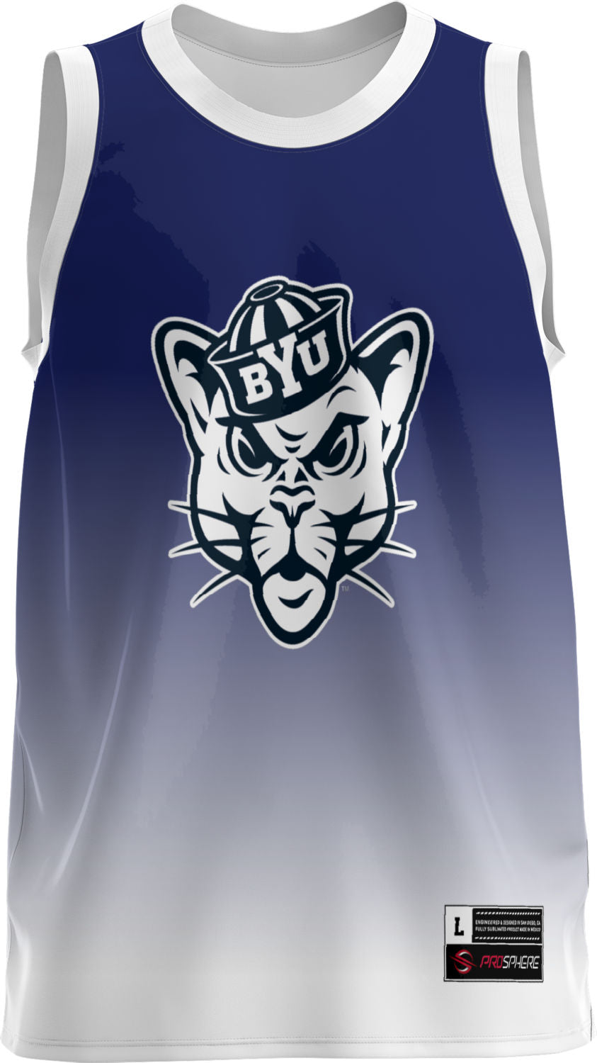 Brigham Young University: Youth Replica Basketball Fan Jersey - Ombre