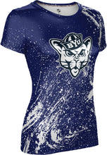 Load image into Gallery viewer, Brigham Young University: Women's T-shirt - Splatter