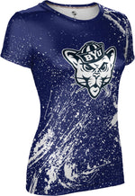 Brigham Young University: Women's T-shirt - Splatter