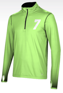 Men's Half-Zip Active Long Sleeve Jacket