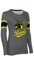Load image into Gallery viewer, Roy High School: Women's Customizable Long Sleeve T-Shirt - End Zone