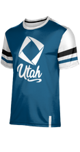 Load image into Gallery viewer, Utah DECA: Men's T-Shirt - Old School (Blue)