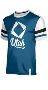 Utah DECA: Men's T-Shirt - Old School (Blue)