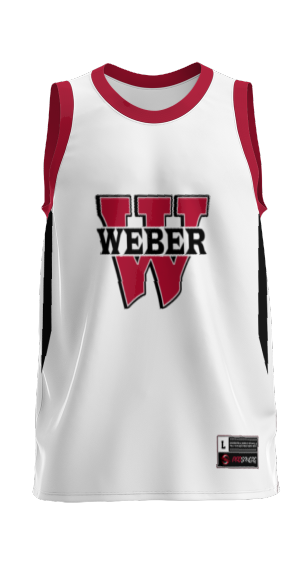 Weber High School: Adult Custom Basketball Fan Jersey - Rain (White)