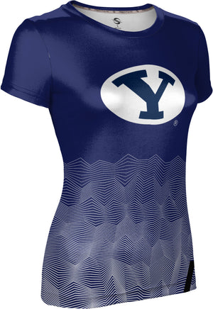 Brigham Young University: Women's T-shirt - Warp
