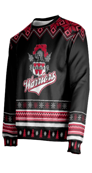 Weber High School: Unisex Ugly Holiday Sweater - Festive
