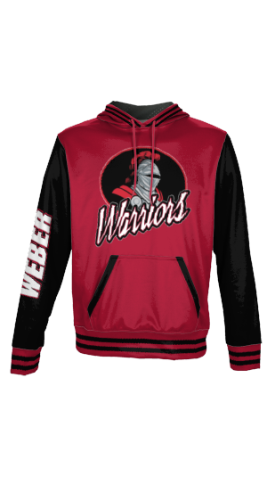 Warriors Slanted - Men's Premium Full Sublimation Pullover Hoodie - Letterman
