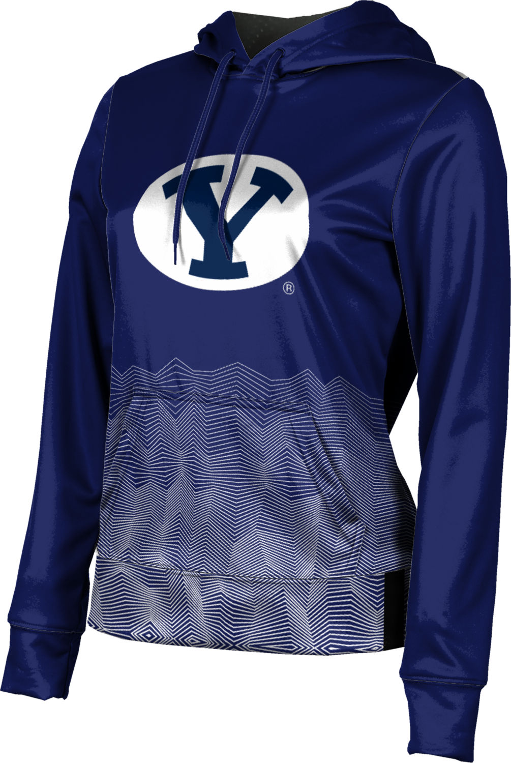 Brigham Young University: Women's Pullover Hoodie - Warp