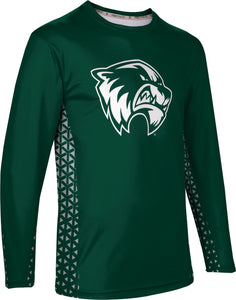 Utah Valley University: Men's Long Sleeve Tee - Geometric