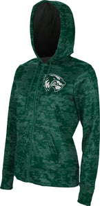 Utah Valley University: Women's Full Zip Hoodie - Digital Camo
